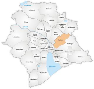 quarter of the city of Zurich, Switzerland