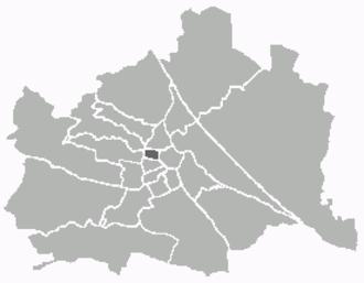 Josefstadt - Image: Kartewien 8