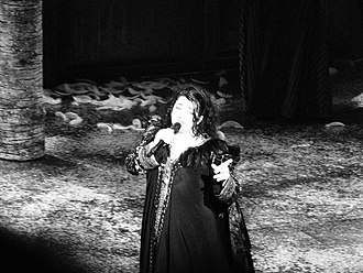 Kate Bush - Bush performing at Hammersmith Apollo in 2014.