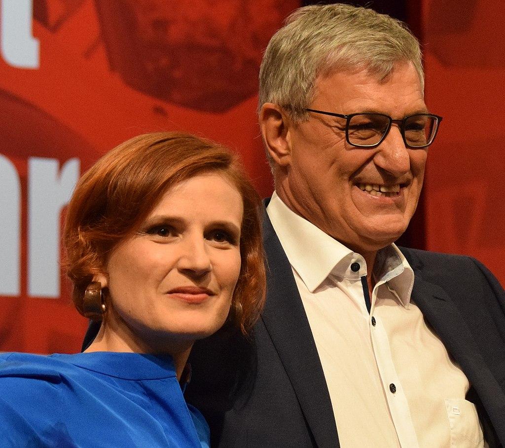 Katja Kipping und Bernd Riexinger. Leipzig 2018 (cropped).jpg