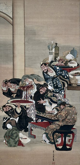 Katsushika Ōi - Operating on Guanyu's Arm