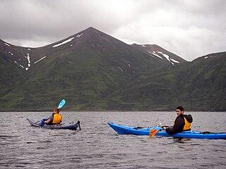 Kayaking act of using a kayak