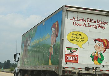 English: Keebler delivery truck, US 23, Michigan