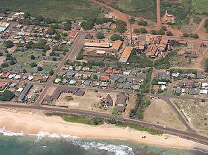 Kekaha, Hawaii - aerial view of Kekaha