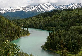 Kenai River - The Kenai River at Cooper Landing, July 2008