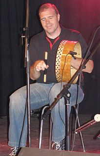 Kevin Crawford English tin whistle and bodhrán player