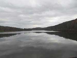 Keystone State Park (Pennsylvania) - Keystone State Park on a cloudy fall day.
