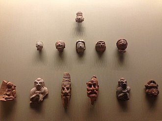 Kingdom of Khotan - Clay figurines found in Yotkan, 2nd-4th century