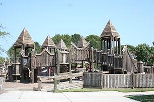 "Mount Trashmore Park - ""Kids' Cove"" playground at Mount Trashmore Park"