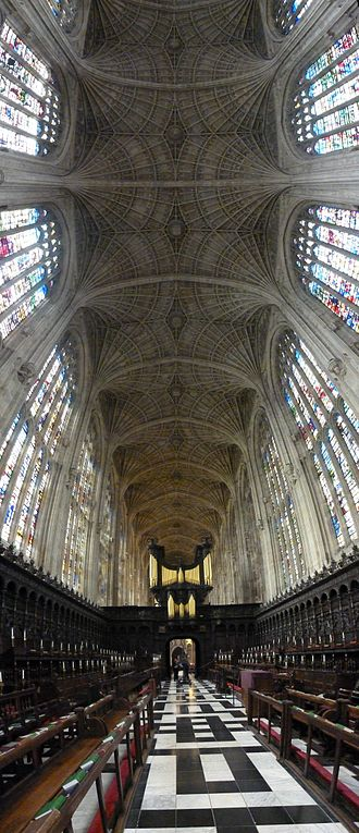 King's College Chapel, Cambridge - The world's largest fan vault (1512–1515)