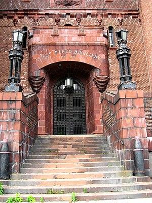 Kingsbridge Armory - Image: Kingsbridge Armory door jeh