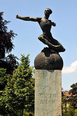 Oskar Bider - Bider memorial by Hermann Haller in Bern