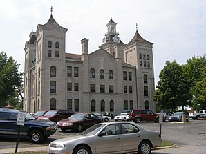 Das Knox County Courthouse in Vincennes, gelistet im NRHP