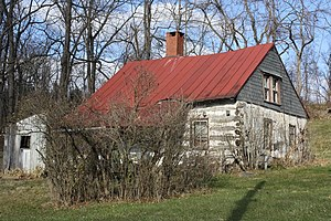 Lower Frederick Township, Montgomery County, Pennsylvania - Knurr Log House at Delphi