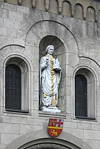 Koblenz, St. Kastor, Statue Westportal (2011-09-08 Sp).JPG