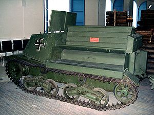 Artillery tractor - Tracked Finnish WWII Komsomolets (captured from USSR)