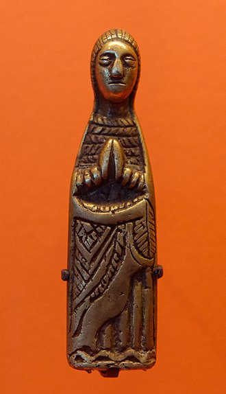 Kimpa Vita - Virgin Mary in copper alloy produced within the Kongo Kingdom during the 18th century.