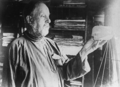 Konstantin Tsiolkovsky with a paper model in his hand.png