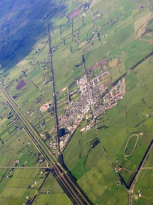 Koo Wee Rup - Aerial photo from the southwest