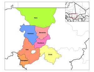 Koulikoro Region - ''Cercles'' in the Koulikoro Region