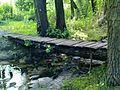 Kraków - the pedestrian footbridge over the Drwinka river.JPG
