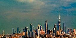 Staden Kuwaits skyline