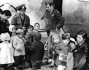Dean Hess - Image: LCOL Blaisdell and COL Hess visit orphans on Jejudo