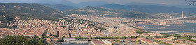 La Spezia, panorama depuis la colline occidentale.