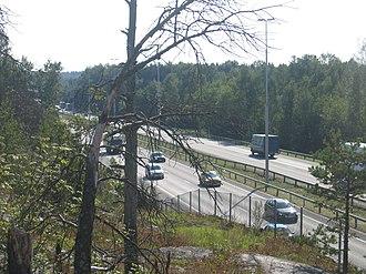 Finnish national road 4 - Image: Lahdenvayla helsinki 2