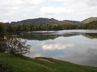 Tajchy - Počúvadlo Lake is one of the preserved tajchy