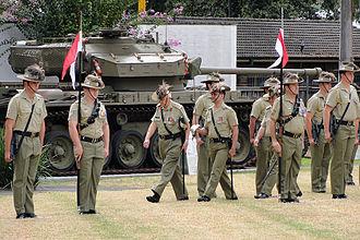 1st/15th Royal New South Wales Lancers - 1/15th Royal NSW Lancers on parade at Lancer Barracks, Parramatta