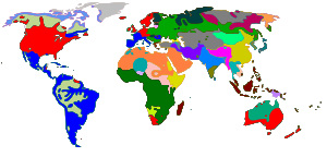 Repartition map of the languages over the worl...