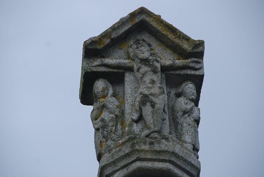 Partie supérieure de la croix - le Christ sur la croix