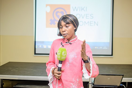Launching of Wiki Loves Womenat Goethe Institute, Lagos ,Nigeria 8.jpg