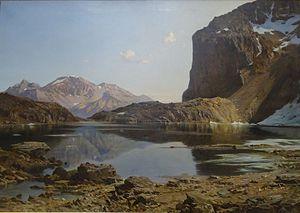 Lac de l'Eychauda - Image: Laurent Guetal Le lac de l'Eychauda