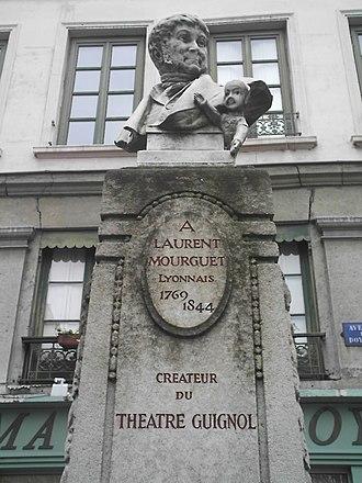 Laurent Mourguet - Bust of Laurent Mourguet, avenue Doyenné (5th arrondissement of Lyon)