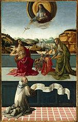 Le Christ et la Vierge intercédant en faveur de l'humanité