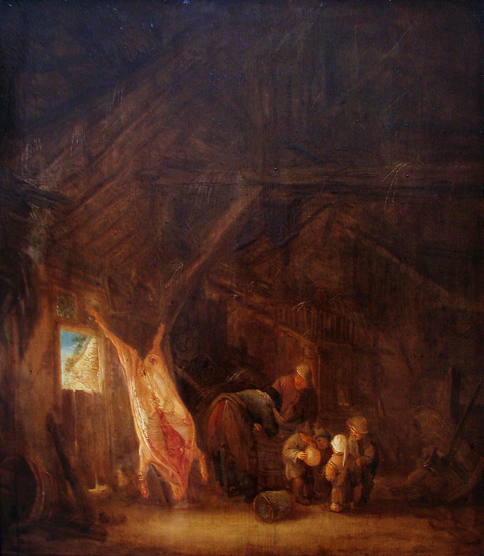 Le Dépècement du porc I van Ostade Lille 3118