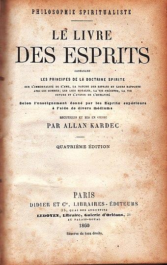 Espiritismo wikiwand publicao de o livro dos espritos de 1860 em paris fandeluxe Images