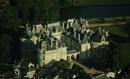 Le Lude castle, aerial view