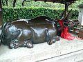 Le Temple Shintô Kitano-Ten'man-gû - La statue en bronze d'une vache couchée2.jpg