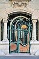Le portail d'entrée du Castel Béranger par Hector Guimard, Paris 2010.jpg