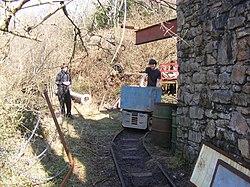 Lea Bailey Light Railway — Clearwell Caves (13057213324).jpg