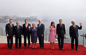 Policy Network - World leaders attending the Progressive Governance Conference 2009 in Chile