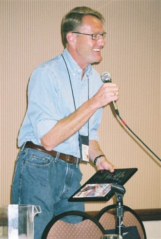 Lee Child - Child receiving a Barry Award in 2005 for The Enemy.