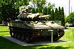 Left front view of M551 Sheridan at Idaho Military History Museum 2018.jpg