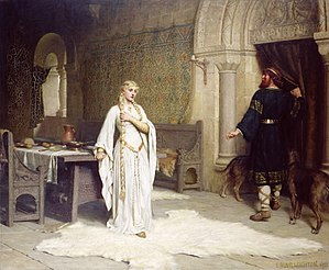 Lady Godiva - Lady Godiva: Edmund Blair Leighton depicts the moment of decision (1892)