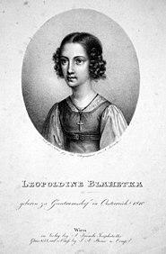 Leopoldine Blahetka, Lithographie von Adolf Kunike, um 1830. (Quelle: Wikimedia)