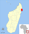 Lepilemur scottorum range map.png