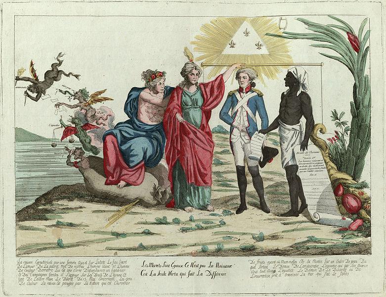 Les Mortels sont égaux, ce n'est pas la naissance c'est la seule vertu qui fait la différence (1794).